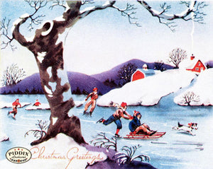 Pdxc10009 -- Snowy Scenes Color Illustration