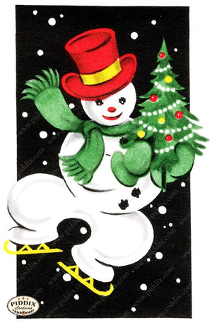 Pdxc10016B -- Snowmen Women Color Illustration