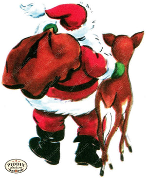 Pdxc10022B -- Santa Claus Color Illustration