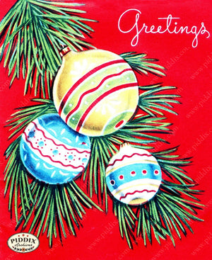Pdxc10039A -- Christmas Ornaments Color Illustration