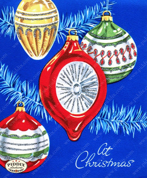 Pdxc10043A -- Christmas Ornaments Color Illustration
