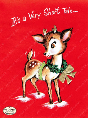 Pdxc10052A -- Christmas Deer Color Illustration