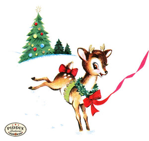 Pdxc10052B -- Christmas Deer Color Illustration