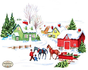 Pdxc10055B -- Snowy Scenes Color Illustration