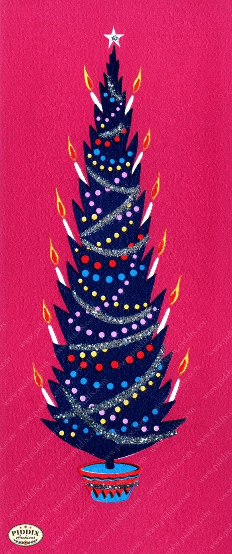 Pdxc10056A Christmas Trees Color Illustration