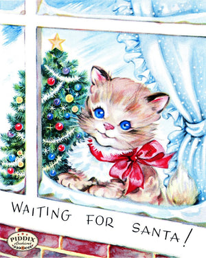 Pdxc10059A -- Christmas Cats Color Illustration