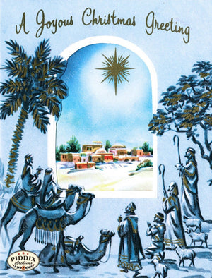 Pdxc10067 -- Christmas Manger Wise Men Virgin Mary Color Illustration