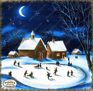 Pdxc10084A -- Snowy Scenes Color Illustration