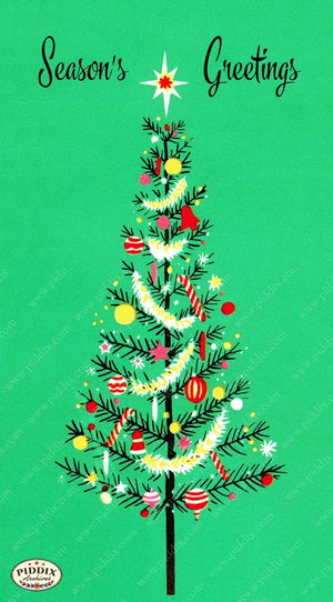 Pdxc10089 -- Christmas Trees Color Illustration