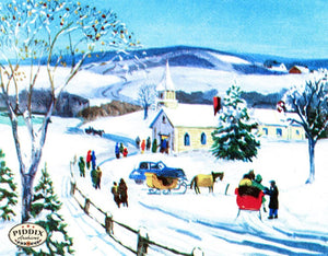 Pdxc10092A -- Snowy Scenes Color Illustration