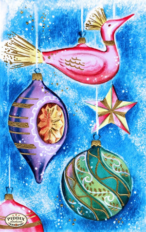 Pdxc10102A -- Christmas Ornaments Color Illustration
