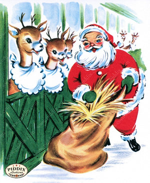 Pdxc10105B -- Santa Claus Color Illustration