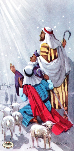 Pdxc10109 -- Christmas Manger Wise Men Virgin Mary Color Illustration