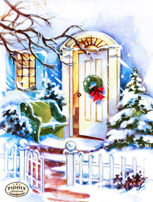 Pdxc10114A -- Snowy Scenes Color Illustration