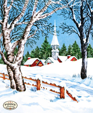 Pdxc10119A -- Snowy Scenes Color Illustration