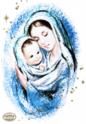 Pdxc10133B -- Christmas Manger Wise Men Virgin Mary Color Illustration