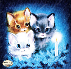 Pdxc10137A -- Christmas Cats Color Illustration