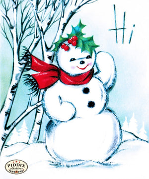 Pdxc10162 -- Snowmen Women Color Illustration