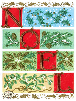 Pdxc10164 -- Christmas Words Color Illustration