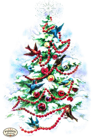 Pdxc10167 -- Christmas Birds Color Illustration