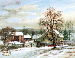 Pdxc10169 -- Snowy Scenes Color Illustration