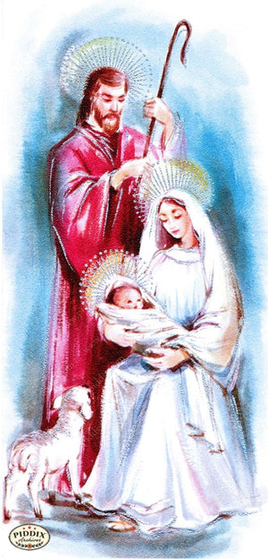 Pdxc10177 -- Christmas Manger Wise Men Virgin Mary Color Illustration