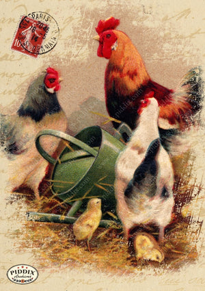 Pdxc10933B -- Farmhouse Animals Original Collage