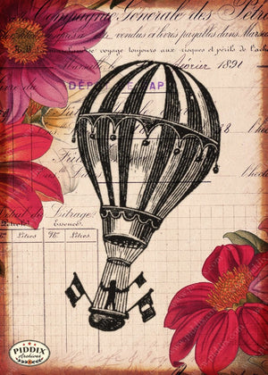 Pdxc12497A Flight & Flowers Original Collage