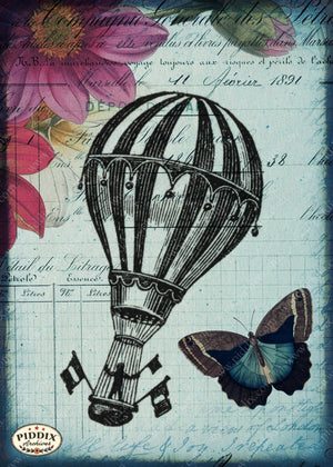 Pdxc12497B And C -- Flight & Flowers Original Collage
