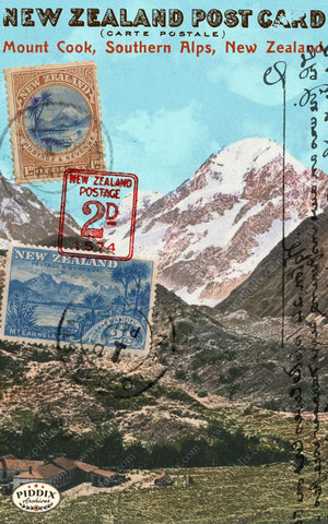 Pdxc13511B -- Travel Postcards Original Collage