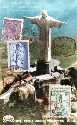 Pdxc13660A -- Travel Postcards Original Collage