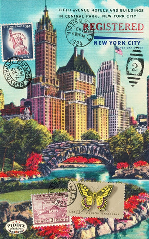 Pdxc13755A -- Travel Postcards Original Collage