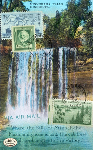 Pdxc13831A -- Travel Postcards Original Collage
