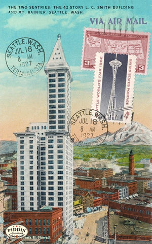 Pdxc13884A -- Travel Postcards Original Collage