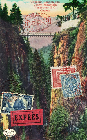 Pdxc13902A -- Travel Postcards Original Collage