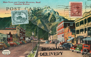 Pdxc13936B -- Travel Postcards Original Collage