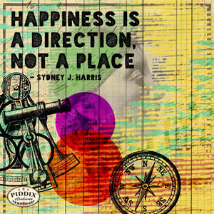 Pdxc14167A -- Happiness Is... Inspirational Quote Original Collage