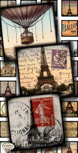 Pdxc14199 -- Travel Postcards Original Collage
