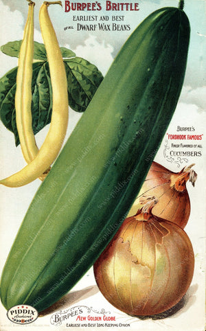 Pdxc1482 -- Fruit & Vegetable Seed Catalogs Color Illustration