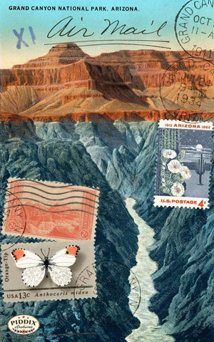 Pdxc14835 -- Travel Postcards Original Collage