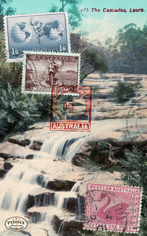 Pdxc14913 -- Travel Postcards Original Collage