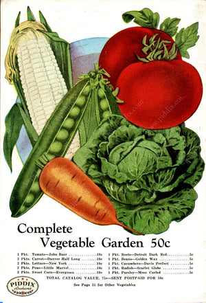 Pdxc1525 -- Fruit & Vegetable Seed Catalogs Color Illustration