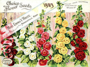 Pdxc1535 -- Flower Seed Catalogs Color Illustration