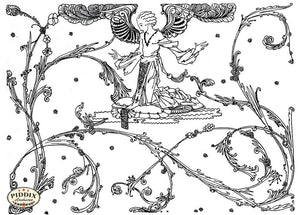 Pdxc15526-- Black & White Fairy Tales Black & White Engraving