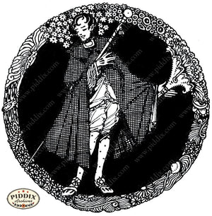 Pdxc15531-- Black & White Fairy Tales Black & White Engraving