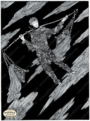 PDXC15557-- Black & White Fairy Tales Black & White Engraving