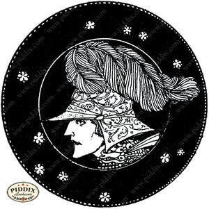 PDXC15559-- Black & White Fairy Tales Black & White Engraving