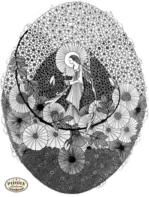 PDXC15562-- Black & White Fairy Tales Black & White Engraving
