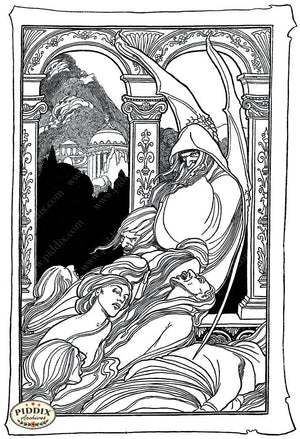 Pdxc15636 -- Black & White Fairy Tales Black & White Engraving