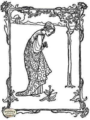 Pdxc15652-- Black & White Fairy Tales Black & White Engraving